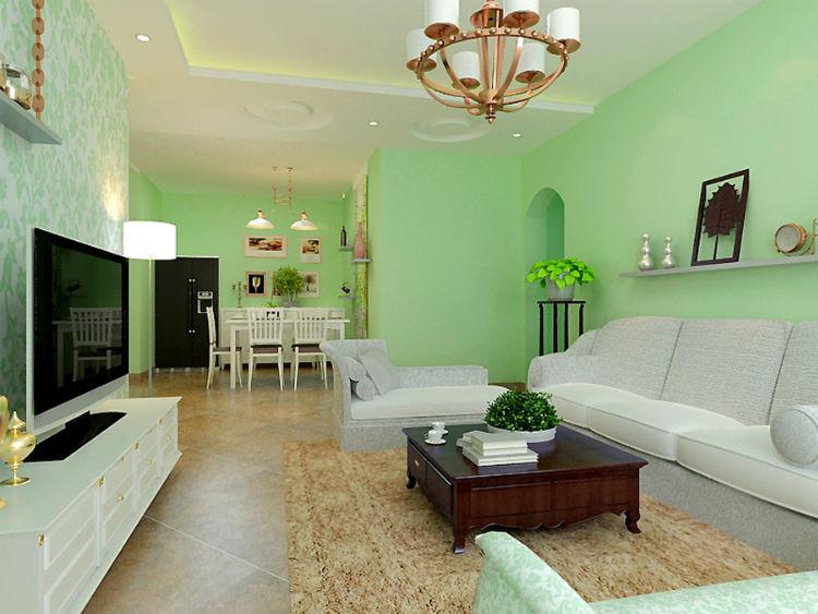 查看本案例装修设计详情; 冠城园-田园风格-三居室-装修案例; 二居室