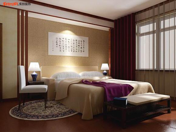 次卧室 欧美风情 150平米三居室装修设计 高清图片