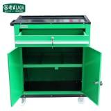 老A 一抽双门工具车/零件柜/工具柜/零件车工具收纳工具箱 绿色 LA111815