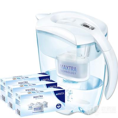 碧然德(Brita)净水器净水壶(智能尊享Elemaris3.5L) 一壶10芯白