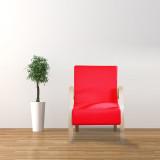 美亿佳 约克单人沙发休闲椅SFY001 红色 宜家 简约 沙发椅