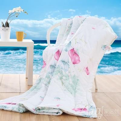 京良 夏凉被空调被 夏被被子被芯 单双人床适用可机洗 200*230cm 天蓝色