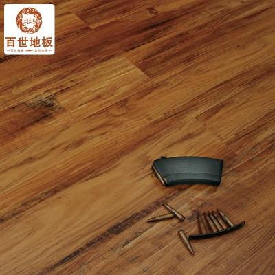 百世地板 凯撒系列强化复合地板地热地暖环保地板 9904 原木色
