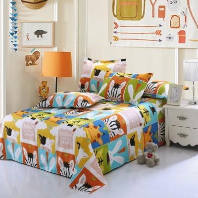 [德玉秀坊] 全棉床单+2只枕套 Q6-1 200*230cm 凯特夫妇-粉