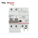 TCL-罗格朗 2P63A带漏电保护断路器 双极空气开关 TLB1L-63C63/2 标准型 浅灰色