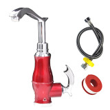 亚乐电热水龙头 DSR-33-B红 即热式厨房水龙头 炫彩四色