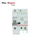 TCL-罗格朗 1P63A带漏电保护断路器 单极空气开关 TLB1L-63C63 标准型 浅灰色