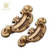 老铜匠 纯铜中欧式橱柜拉手 MJ381570 玫瑰金色大号 仿复古拉手抽屉衣橱柜门把手抽屉拉环暗拉手