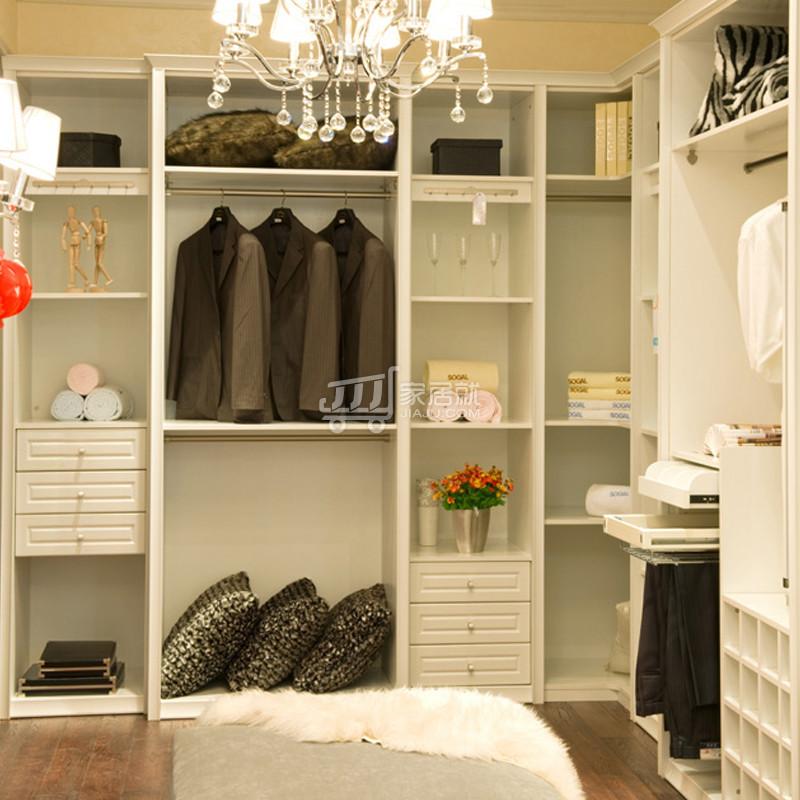 定制衣柜 白色定制整体衣帽间