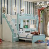 糖果屋 儿童卧室qy700千赢国际(唯一)官网多功能书桌衣柜组合床 双层高低子母床 上床1.35x1.9米 1.2单床+0.7书桌