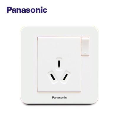 松下(Panasonic)开关插座面板 智趣系列 带开关16A三孔空调插座