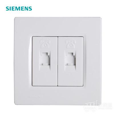 西门子SIEMENS 灵动 二位电话插座 RJ11 雅白色 白色