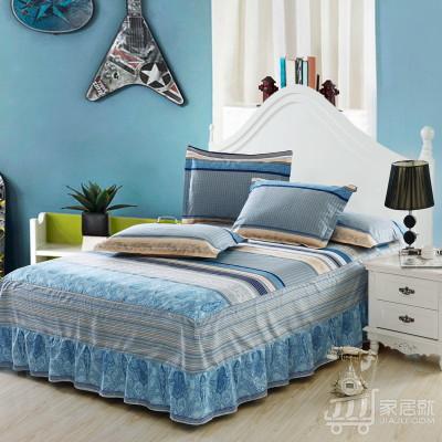 [德玉秀坊] 全棉单件床裙 Q4-2 200*220cm 威凯斯