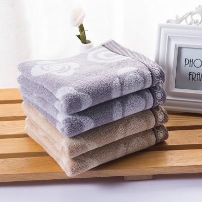洁丽雅grace 纯棉强吸水提花面巾8045 浅灰色