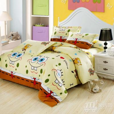 [德玉秀坊] 全棉被套+2只枕套 Q9-1 180*220cm 海绵宝宝