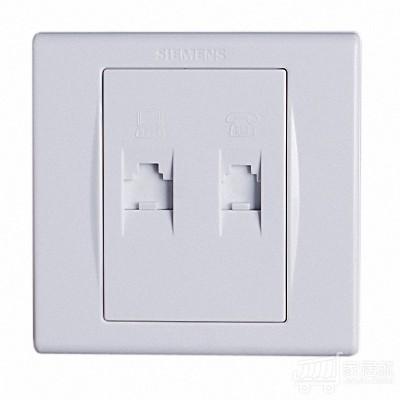西门子SIEMENS 品宜 二位电话插座 雅白色 白色