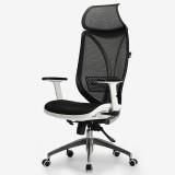 黑白调Hbada 电脑椅人体工学办公椅子 家用老板转椅 白色