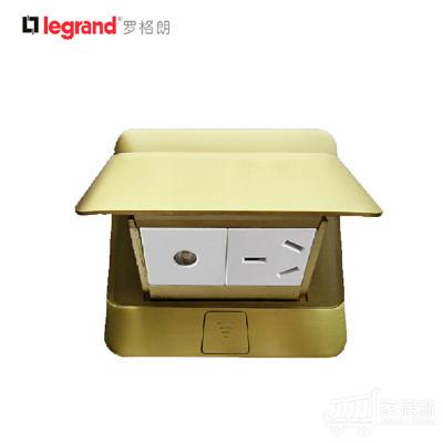 TCL-罗格朗开关插座 全铜防水液压缓冲式地插座 电视+三孔