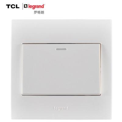 TCL-罗格朗开关插座面板 仕界系列 一开单控开关 86型 雅白色