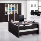 HiBoss 办公家具 板式家具老板桌经理桌 大班台老板台FD-33-06 黑色 HiBoss办公家具新款上市值得信赖