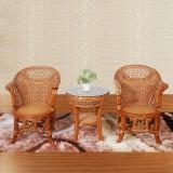 绿欣轩 休闲椅茶几组合 9015 中式藤艺休闲椅茶几组合三件套