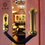 老铜匠 铜质防盗门链防盗锁链门锁扣安全链防盗扣链条锁DG001(玫瑰金)