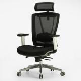 黑白调Hbada 电脑椅人体工学办公椅子 家用老板转椅 灰色 灰色