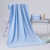 洁丽雅 纯棉浴巾素色优雅宝宝舒适浴巾 2063 天蓝色