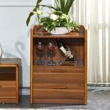 尚满 客厅中式古典电视储物柜 落地电视边柜 多功能杂物餐边柜 边柜