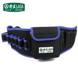 老A 双层加厚工具腰包 LA212806多功能电工腰包 工具包 防水-蓝边黑色