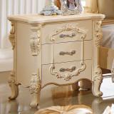 法莉娜 欧式实木床头柜 实木床边柜子 欧式储物柜 卧室家具 M11 床头柜 闪光漆描金 法莉娜 欧式实木床头柜 实木床边柜子M11