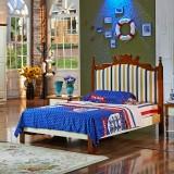 糖果屋 地中海系列新款卧室家具儿童床 板木组合单/双人床 1200*1900 单床