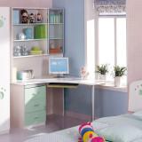 糖果屋 青少年多功能书桌 书架可做电脑桌(分左右)1.2米 粉绿色 儿童家具