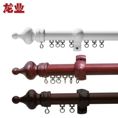 龙业 35型 欧式窗帘单杆橡胶支架套装定制 分米/杆式轨道 白色