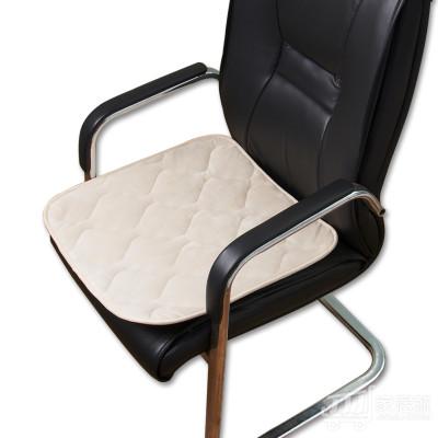 KYORYO 京良 活性碳养生坐垫办公椅子温感柔绒垫座椅垫 H8004 40*40cm 米白色