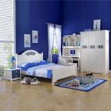 糖果屋 天鹅系列四件套 床 床头柜 衣柜 挂衣架 烤漆材质白色 儿童家具