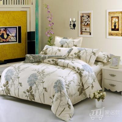[德玉秀坊] 床单式纯棉四件套 Q12-2 1米2床 似水流年