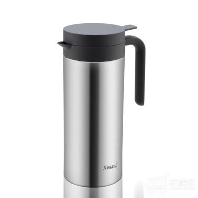 兴财 柱形咖啡壶 V733 1.0L-不锈钢色