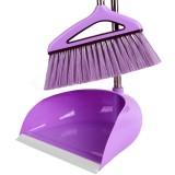鑫宝鹭扫把新款软毛扫帚簸箕套装组合畚箕笤帚魔法扫把防风套扫紫 紫色 魔法扫把防风套扫 紫色