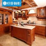 欧睿橱柜整体厨房橱柜定制 抗污石英石台面 古典欧式实木门板 1延米