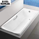 科勒百利事1.5米1.7米铸铁浴缸嵌入式浴缸K-17270T/K-15849T(BJ) 有扶手孔 有扶手孔,1.5米