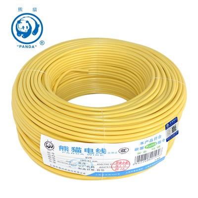 熊猫电线 BVR多股软线 BVR 6平方 100米绕包 黄