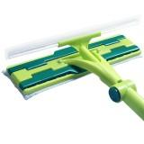 美的家擦玻璃器双面伸缩杆擦窗神器高楼刮水器清洁清洗刷洗窗户器 绿色