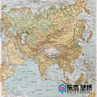 亚洲大陆地图书房世界地图