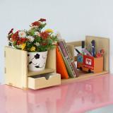 美亿佳 创意桌上实木小书架BS-001 书柜 书架