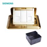 西门子开关插座SIEMEMS 电话电脑弱电地插 全铜 120型 铜