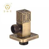 老铜匠 全铜欧式角阀 32424A 青古铜色 实心加厚陶瓷芯 冷热水通用