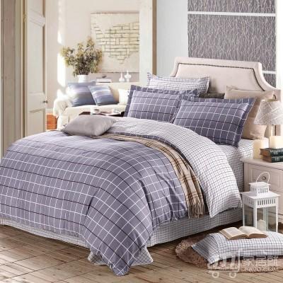 京良 床单四件套 床上用品 高支全棉印花床品套件 1.5米床/被套1.8米 索菲格