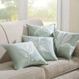 Harbor House 真丝双宫绣花靠垫套 43*43 水蓝色 抱枕套 沙发靠垫套 真丝 绣花