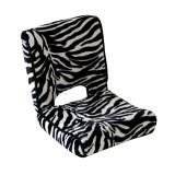 美亿佳 斑马纹毛绒单人懒人沙发 SFM0506 斑马纹 折叠单人沙发 斑马纹毛绒沙发